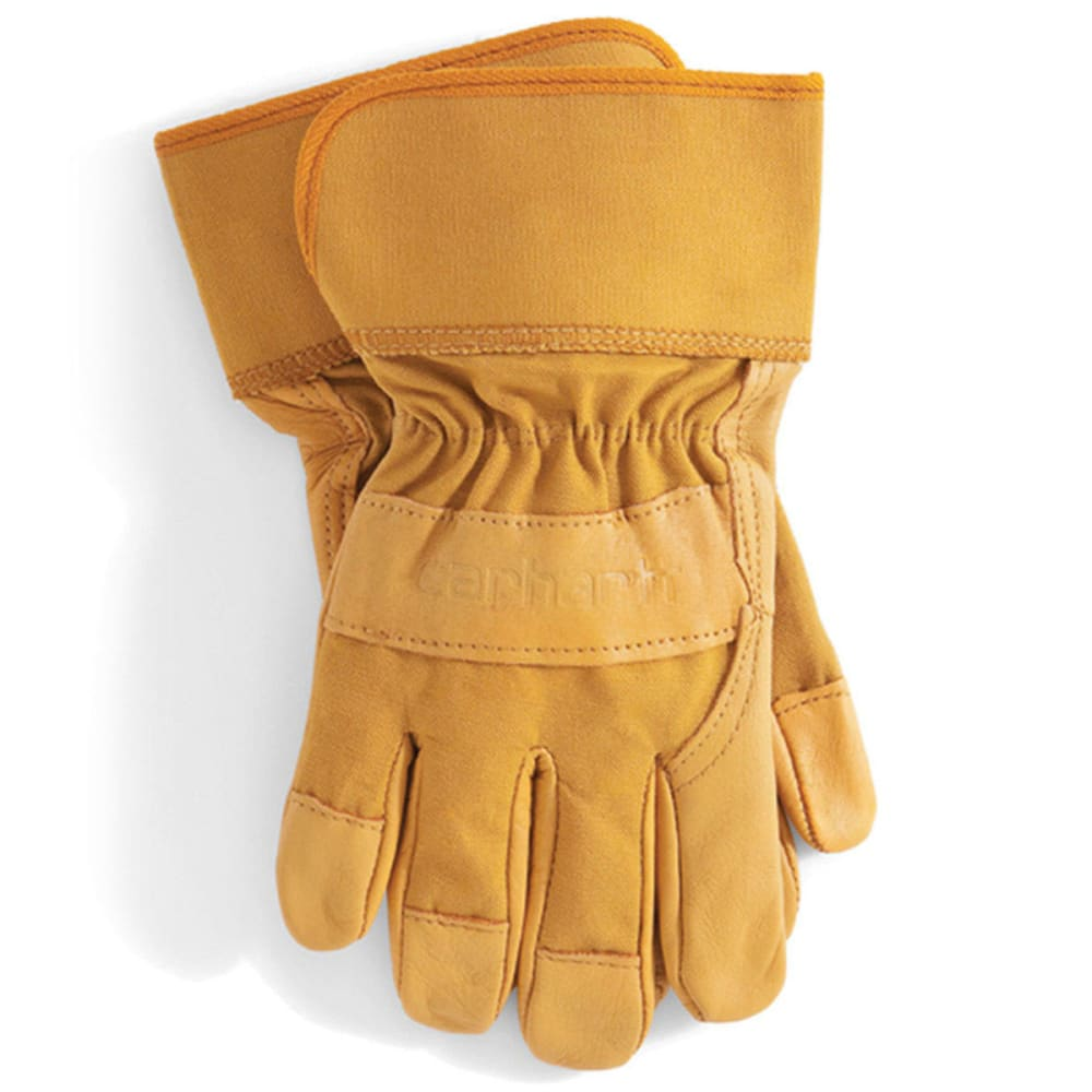 CARHARTT Men's Grain Leather Work Gloves - BROWN