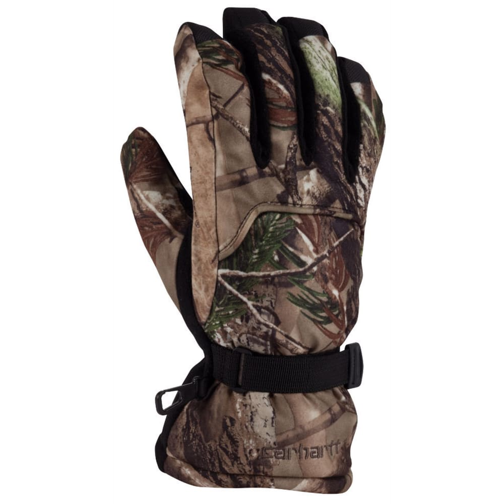 CARHARTT Men's Camo Gauntlet Gloves - CHOCOLATE/BRONZE