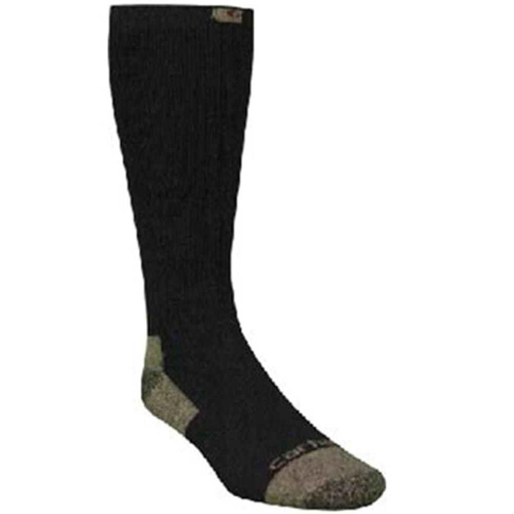 CARHARTT Men's Full Cushion Steel-Toe Cotton Work Boot Socks - BLACK/TAUPE