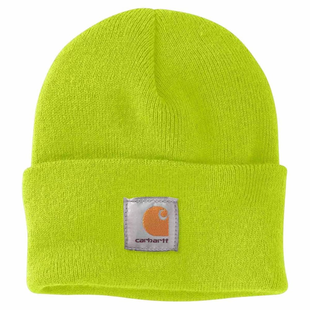 CARHARTT Acrylic Watch Hat - BRIGHT LIME BLM