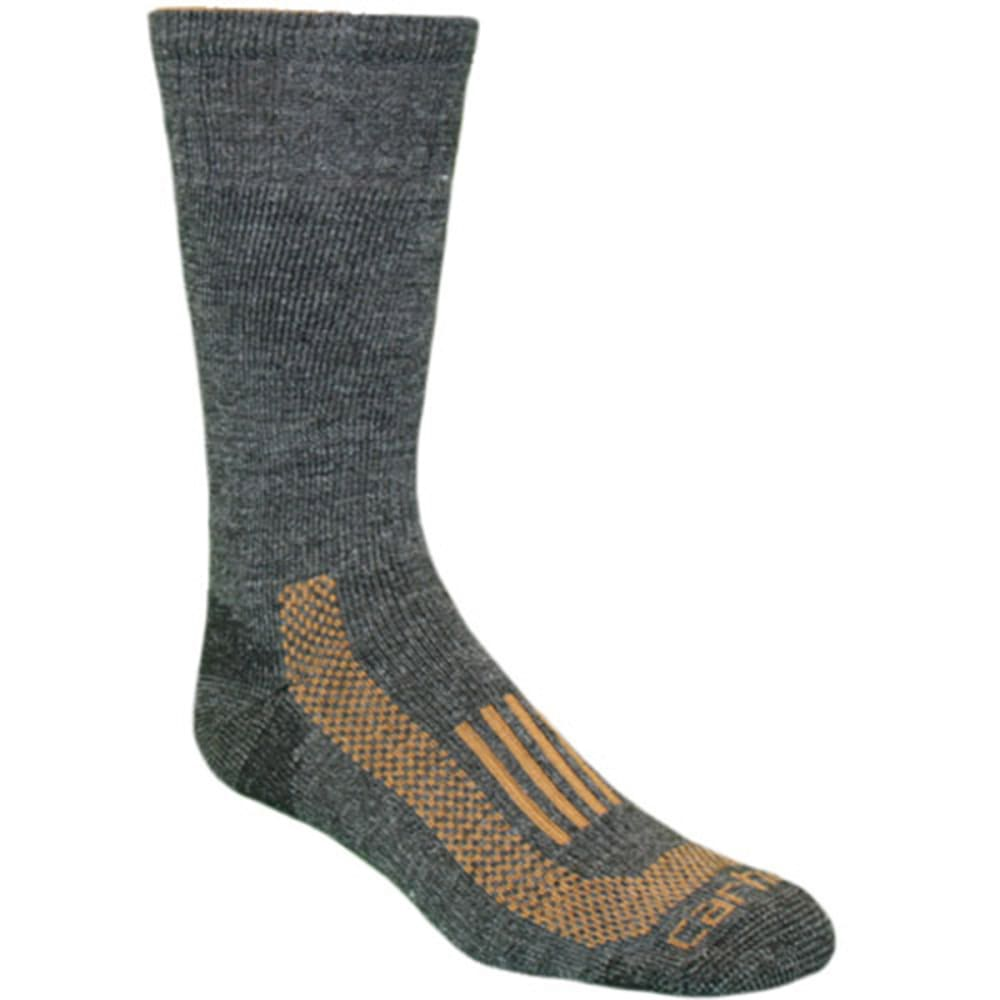 CARHARTT Men's Triple-Blend Thermal Crew Socks - CHARCOAL