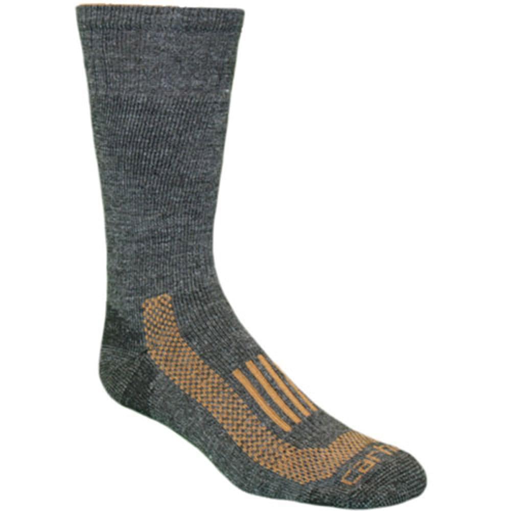 CARHARTT Men's Triple-Blend Thermal Crew Socks - CHARCOAL