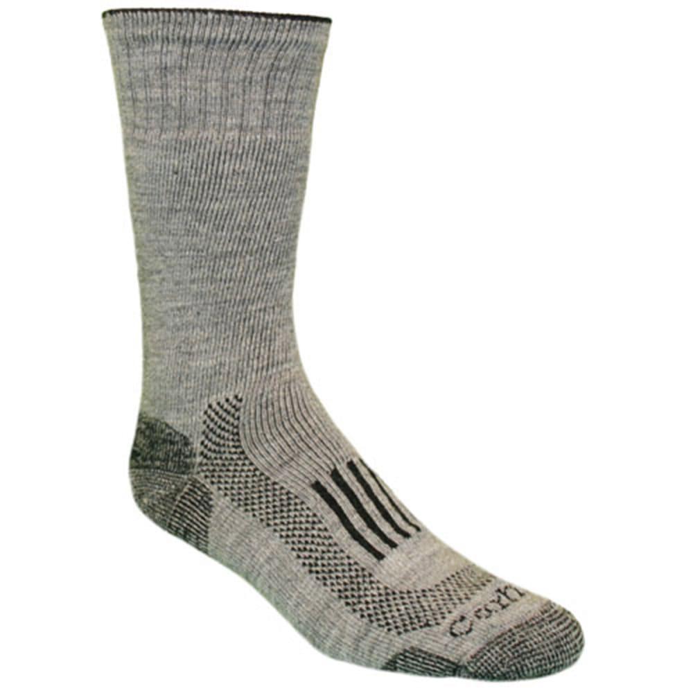 CARHARTT Men's Triple-Blend Thermal Crew Socks - HEATHER GREY