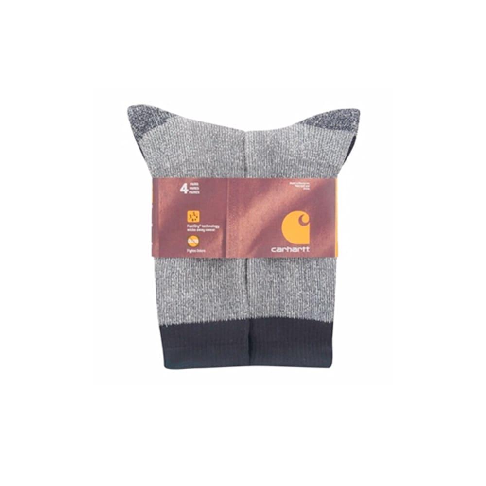CARHARTT Men's 4-Pack Full Cushion Stretch Comfort Socks - BLACK