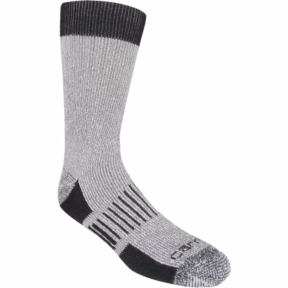 CARHARTT Men's 4-Pack Full Cushion Stretch Comfort Socks - BLACK