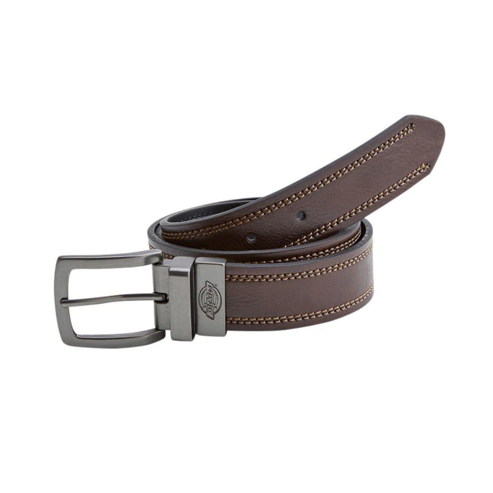 DICKIES Men's Bridle Reversible Belt - BROWN/BLACK