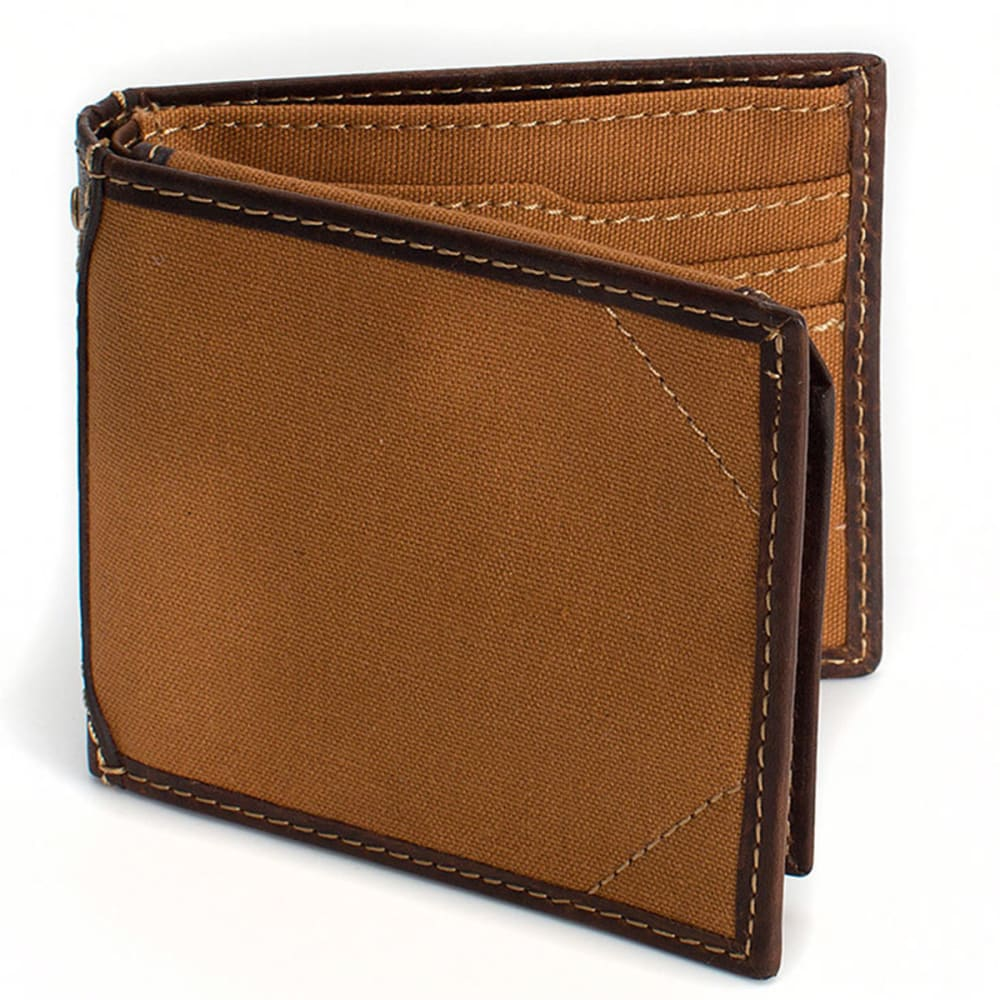 CARHARTT Canvas Passcase Wallet - CARHARTT BROWN