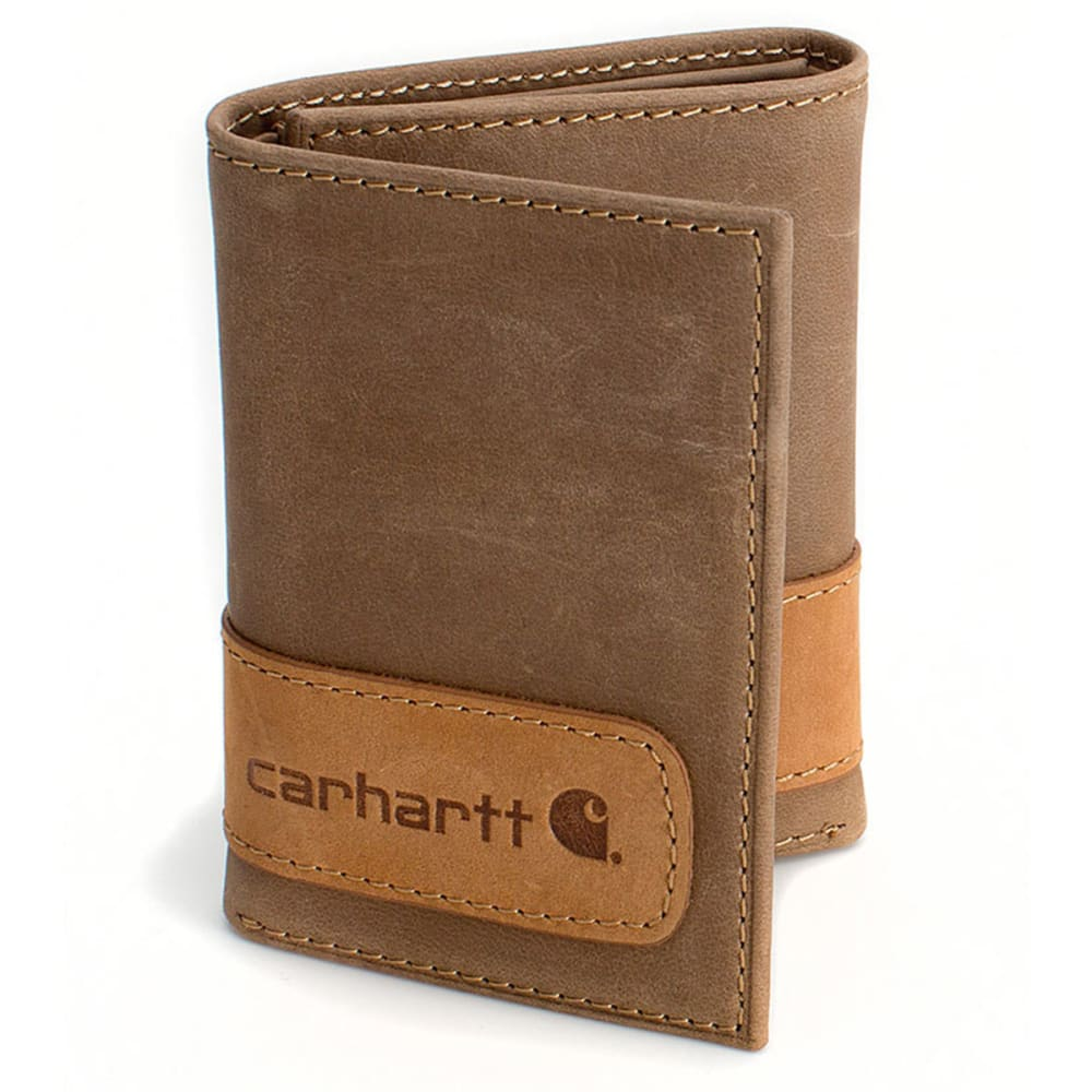 CARHARTT Two-Tone Trifold Wallet - BROWN