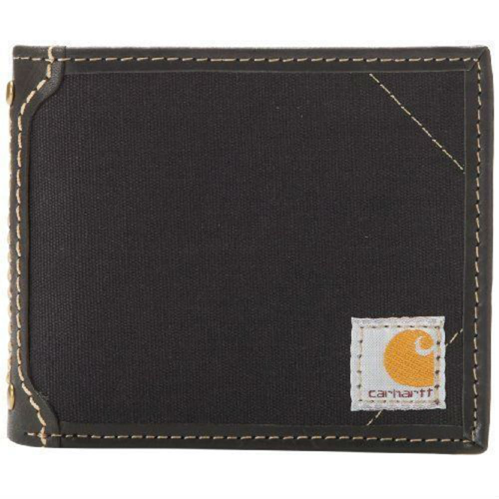 CARHARTT Men's Canvas Passcase Wallet - BLACK