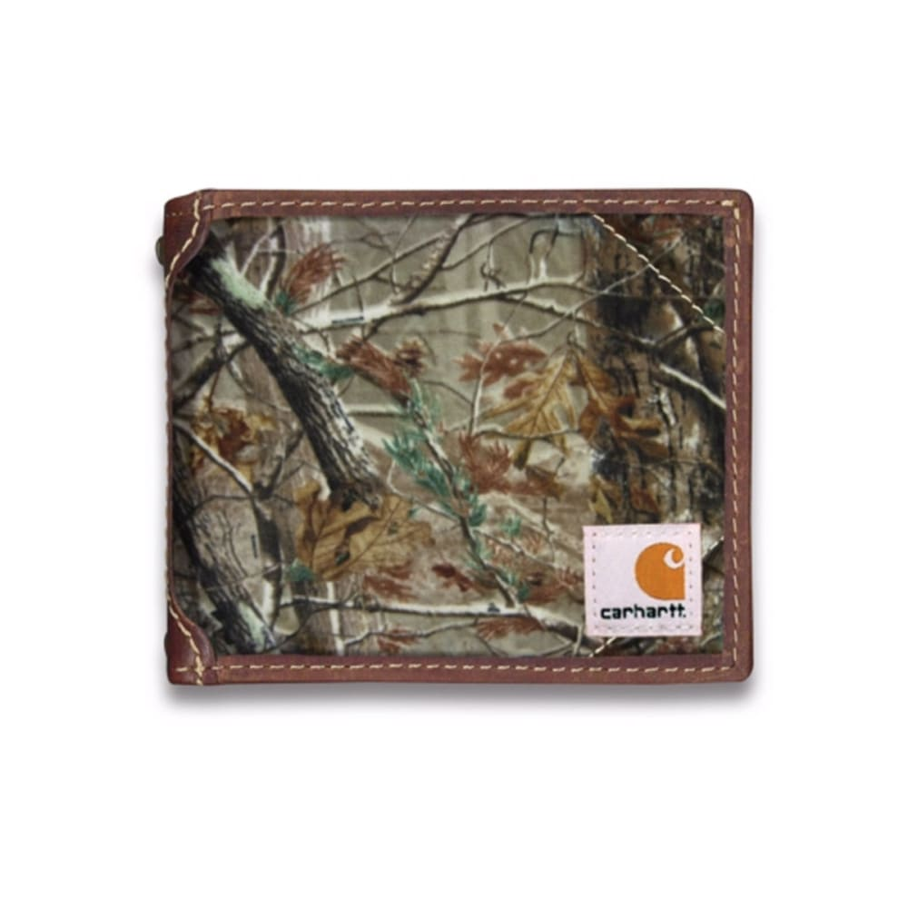 CARHARTT Men's Canvas Passcase Wallet - CAMO BROWN