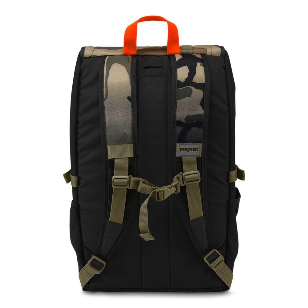 JANSPORT Hatchet Top Loader Backpack - BLACK/CAMO 0BL