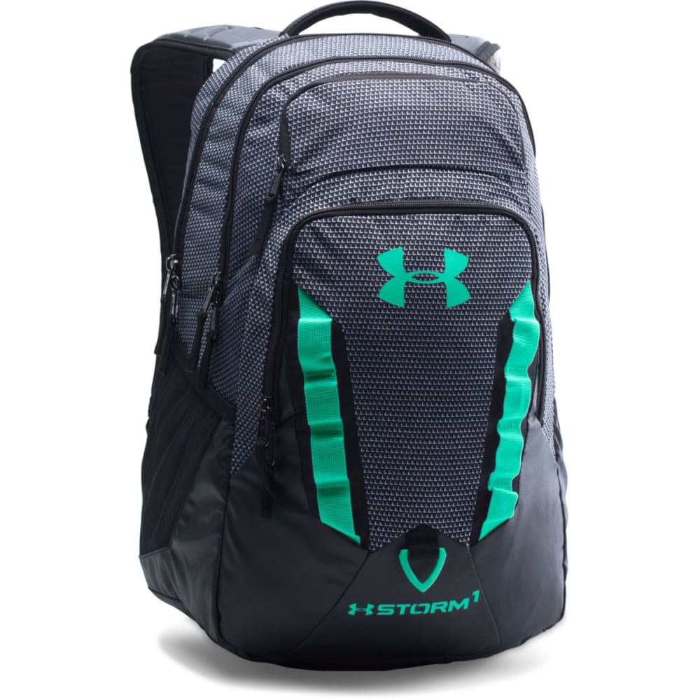 UNDER ARMOUR Recruit Backpack - BLK/WHT PRT 004