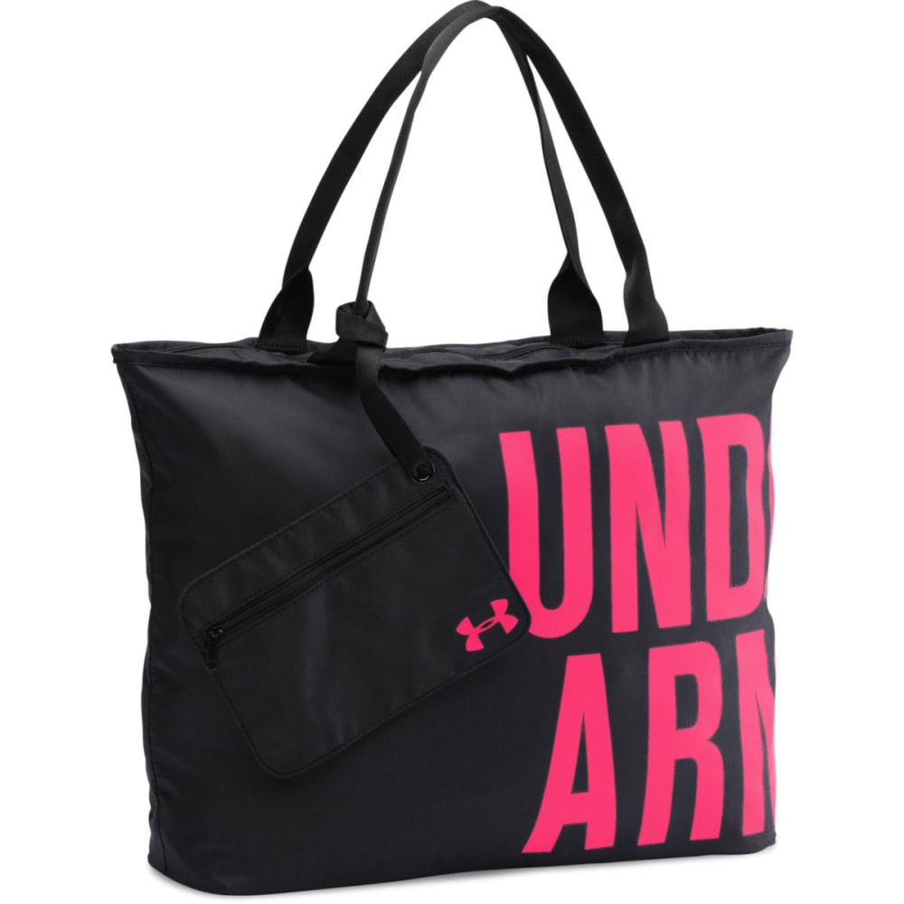 UNDER ARMOUR Big Wordmark Tote - BLACK/RED 005