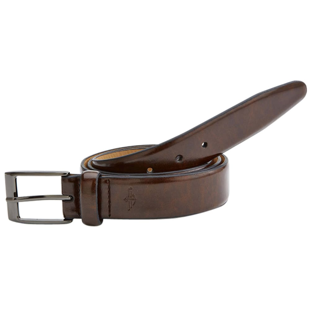 DOCKERS Men's Feathered Edge Leather Dress Belt - BROWN