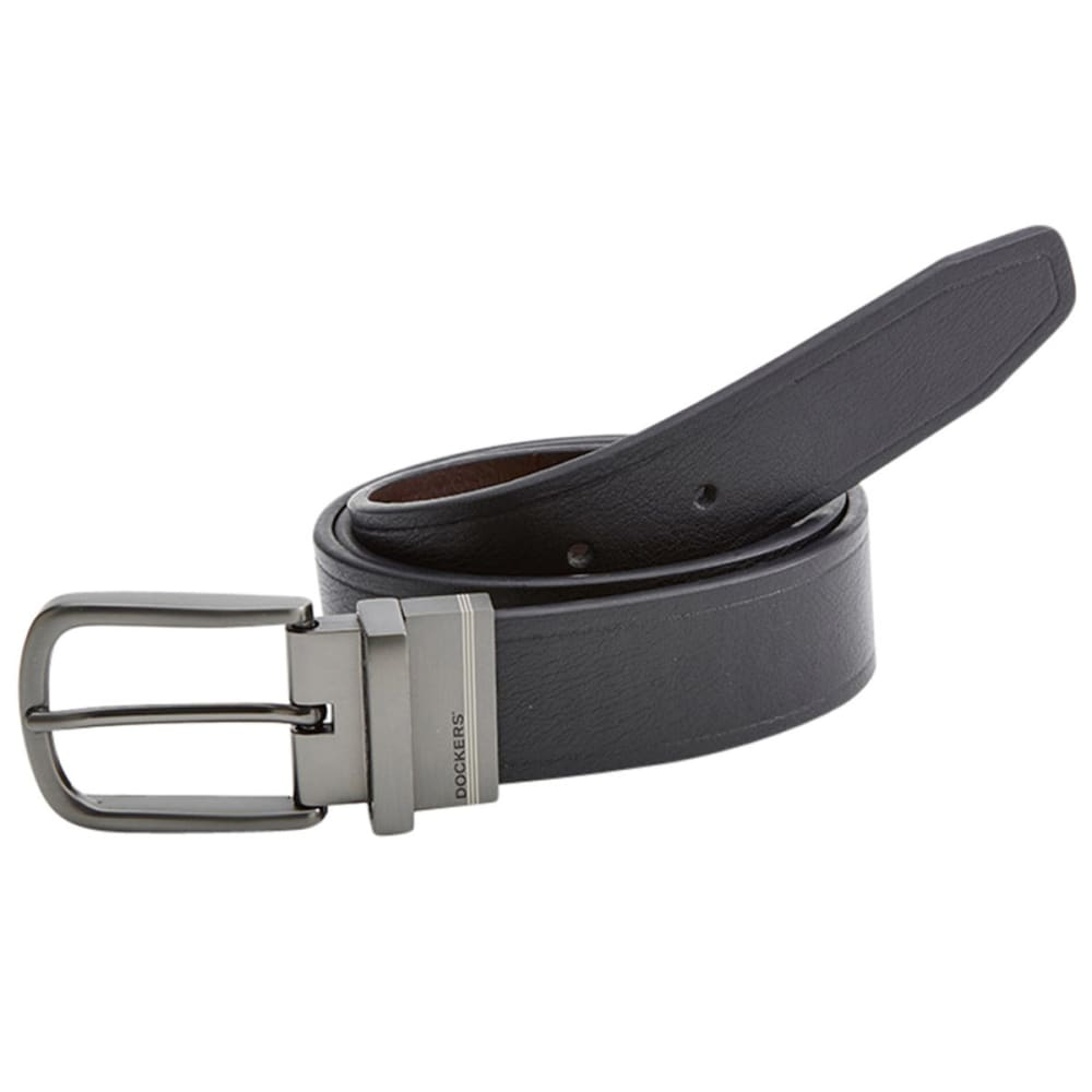 Dockers Men's Cut Edge Reversible Belt - Black, 34