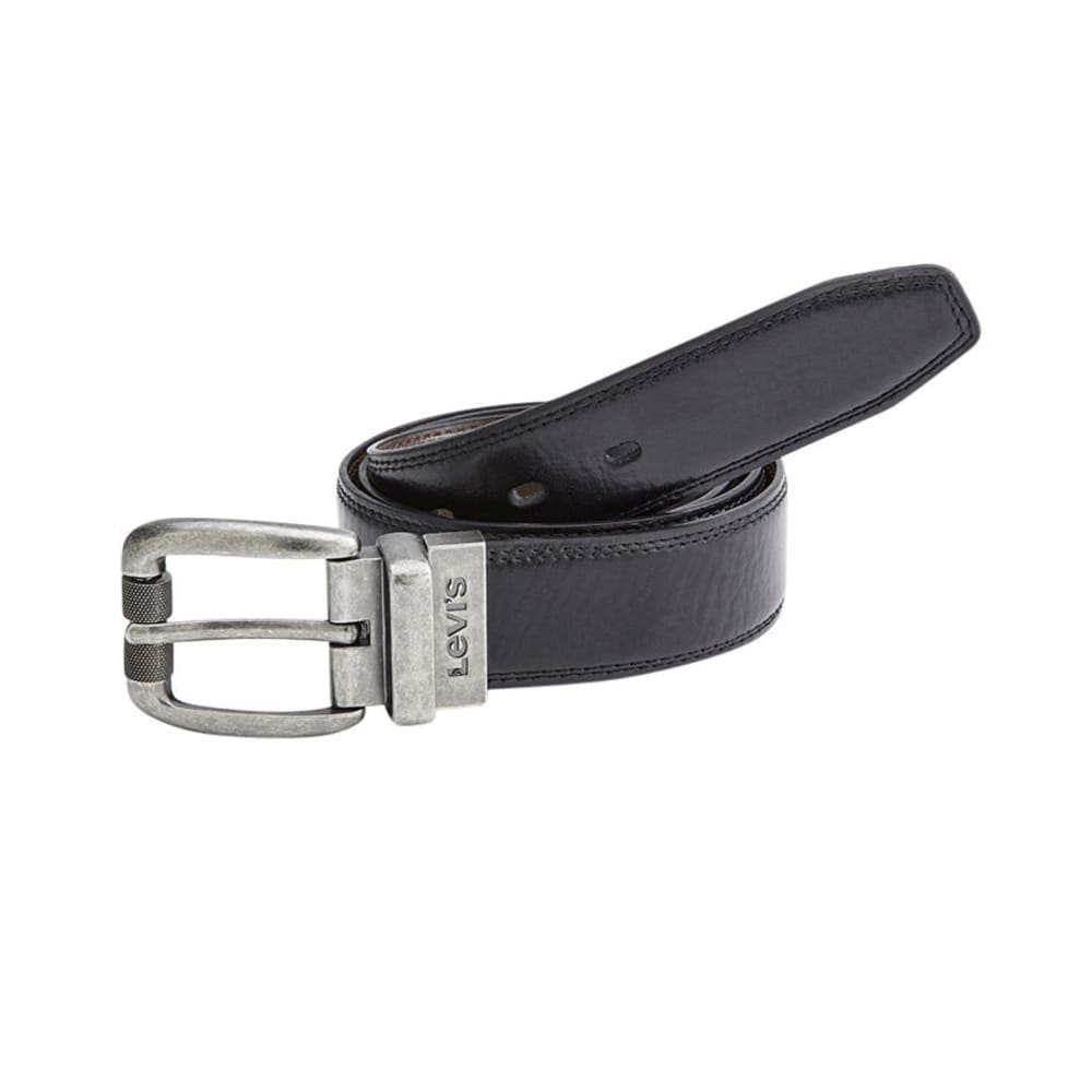 LEVI'S Men's Feathered Edge Reversible Belt - BLACK/BROWN