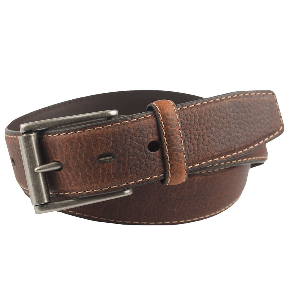 COLUMBIA Men's Stitched Leather Belt - TAN