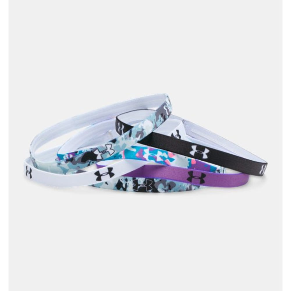 UNDER ARMOUR Women's Graphic Mini Headbands - BLK/MAGE 1280605 002