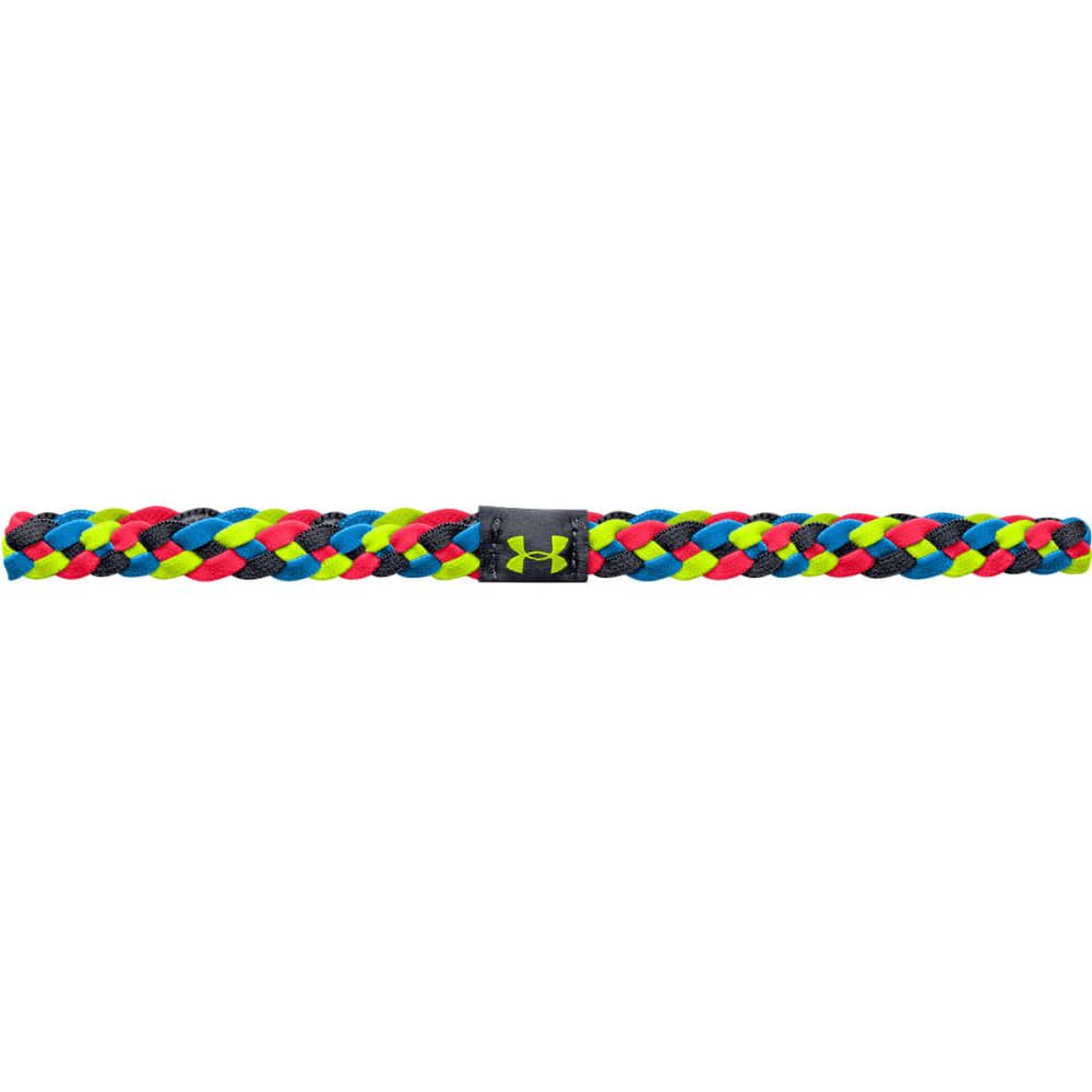 UNDER ARMOUR Women's 4 Braid Mini Headband - YELLOW/PINK