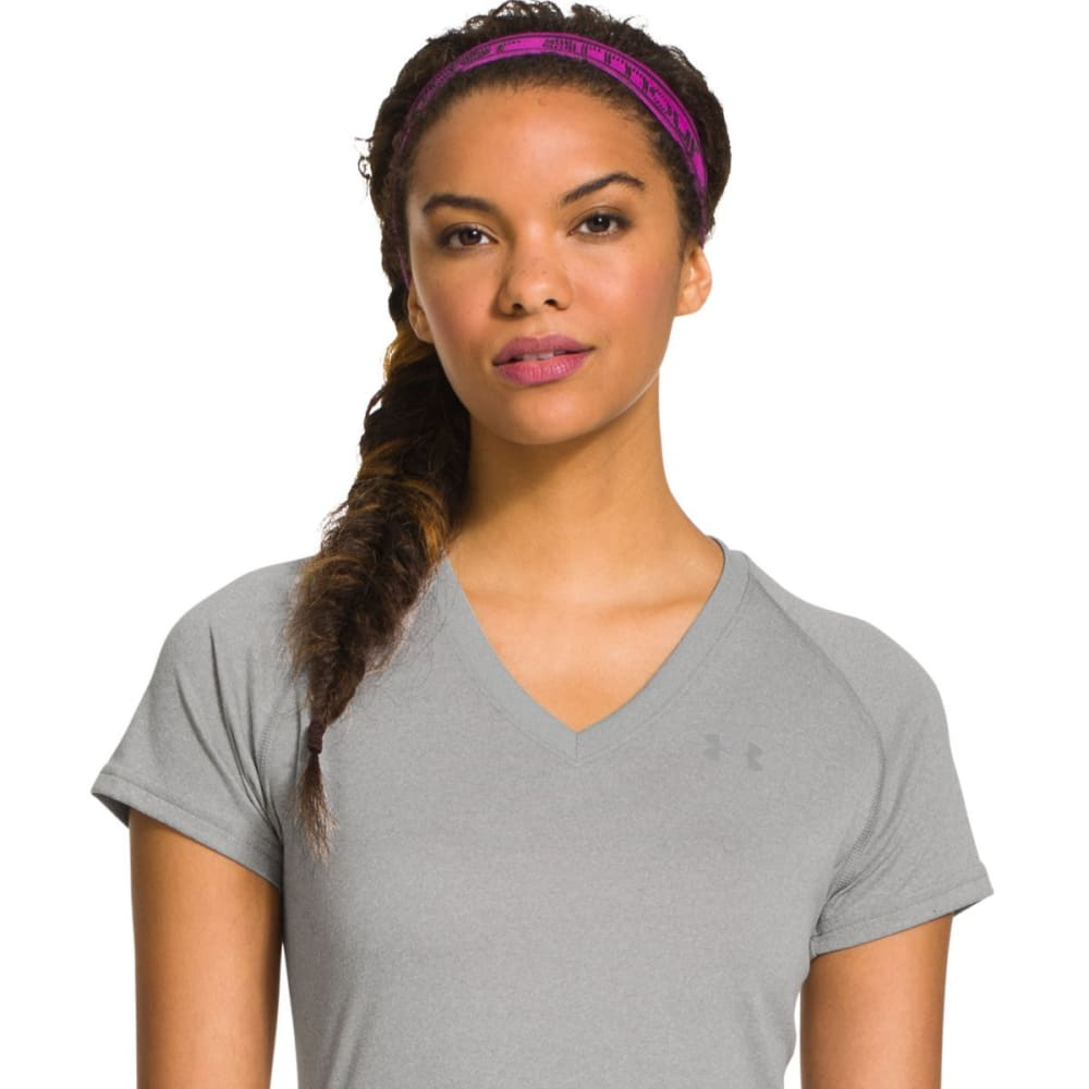 UNDER ARMOUR Women's 2 in 1 Headband - MAGENT