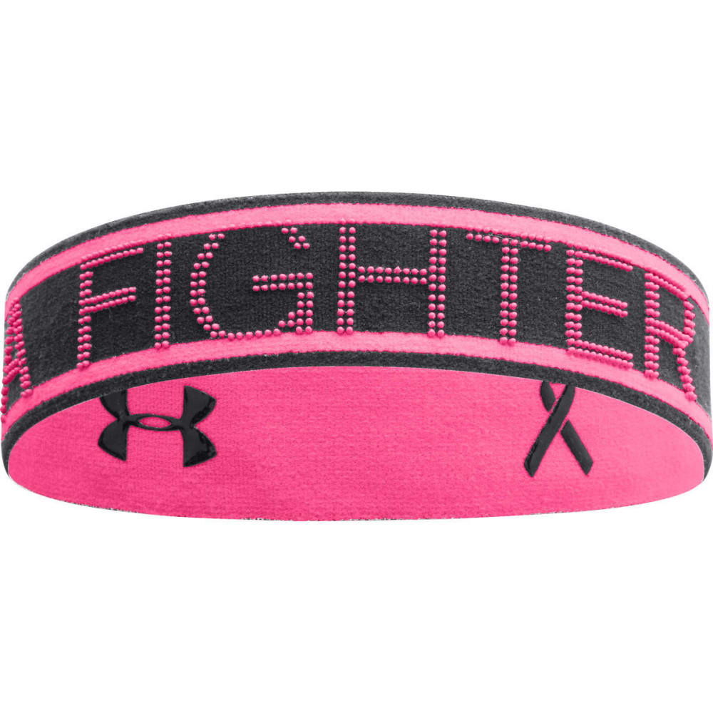 UNDER ARMOUR Women's Power In Pink® Reversible Headband - BLACK