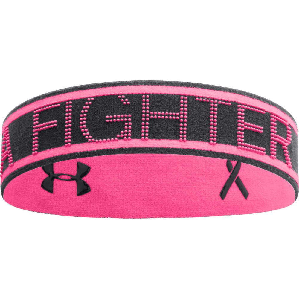 UNDER ARMOUR Women's Power In Pink® Reversible Headband - BLACK