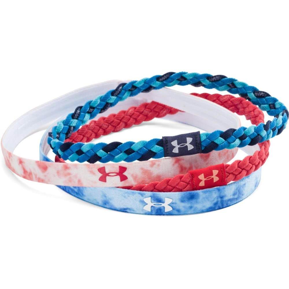 UNDER ARMOUR Women's Graphic Headband, 4 Pack - FADED INK