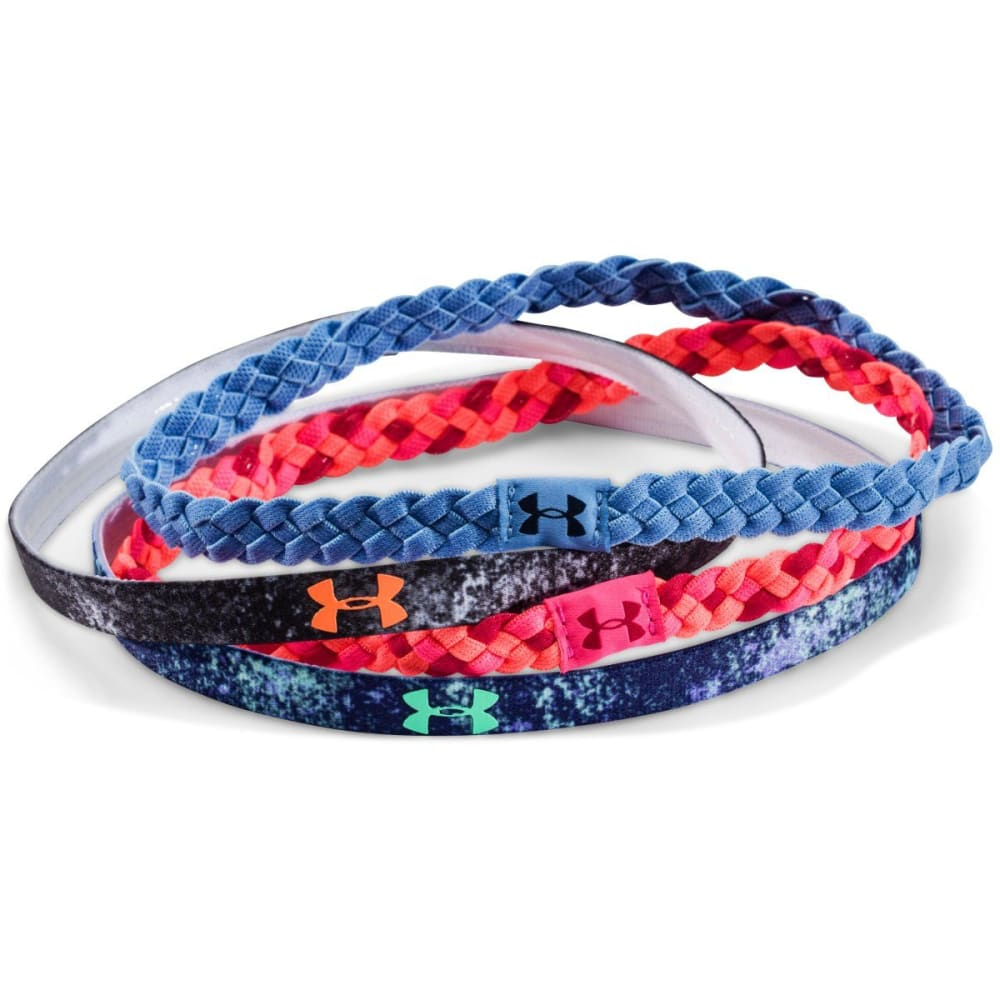 UNDER ARMOUR Women's Graphic Headband, 4 Pack - AFTER BURN