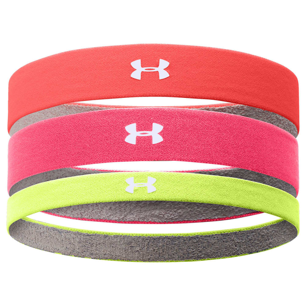 UNDER ARMOUR Women's ArmourGrip Multipack Headbands - PINK SHOCK