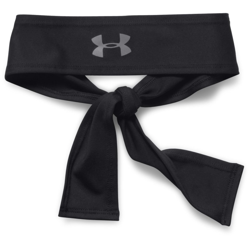 UNDER ARMOUR Women's Tie Headband - BLACK