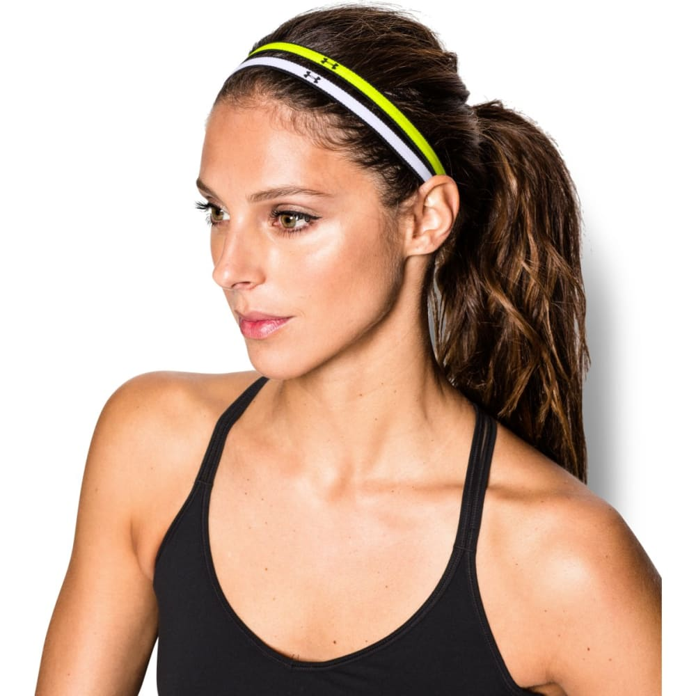 UNDER ARMOUR Women's Mini Headbands - HV/BLK/WHT