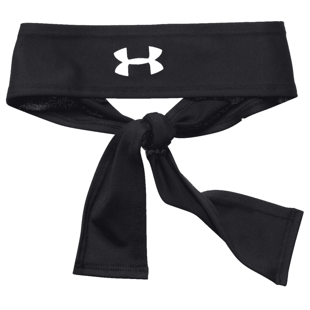 UNDER ARMOUR Women's Tie Headband - BLACK 004