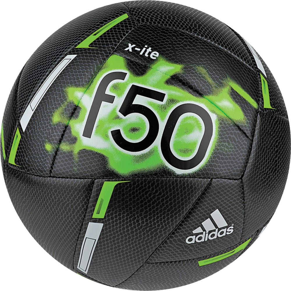 ADIDAS F50 X-Ite Soccer Ball - BLACK/GREEN/WHITE