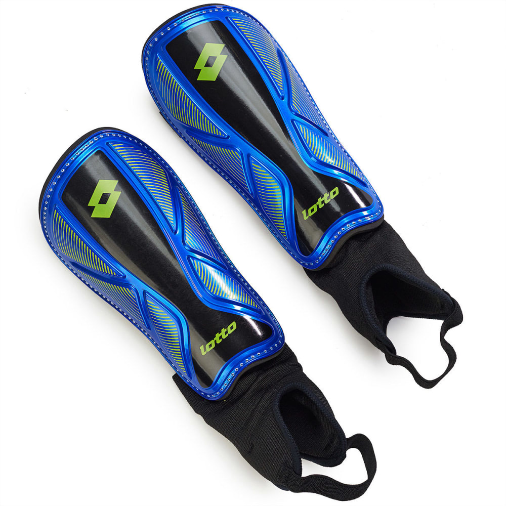 LOTTO Kids' Campione Shinguards - VALUE DEAL - BLUE/LIME GREEN