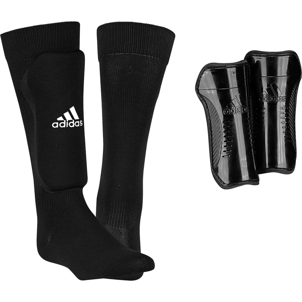 Adidas Youth Sock Shin Guards - Black, S