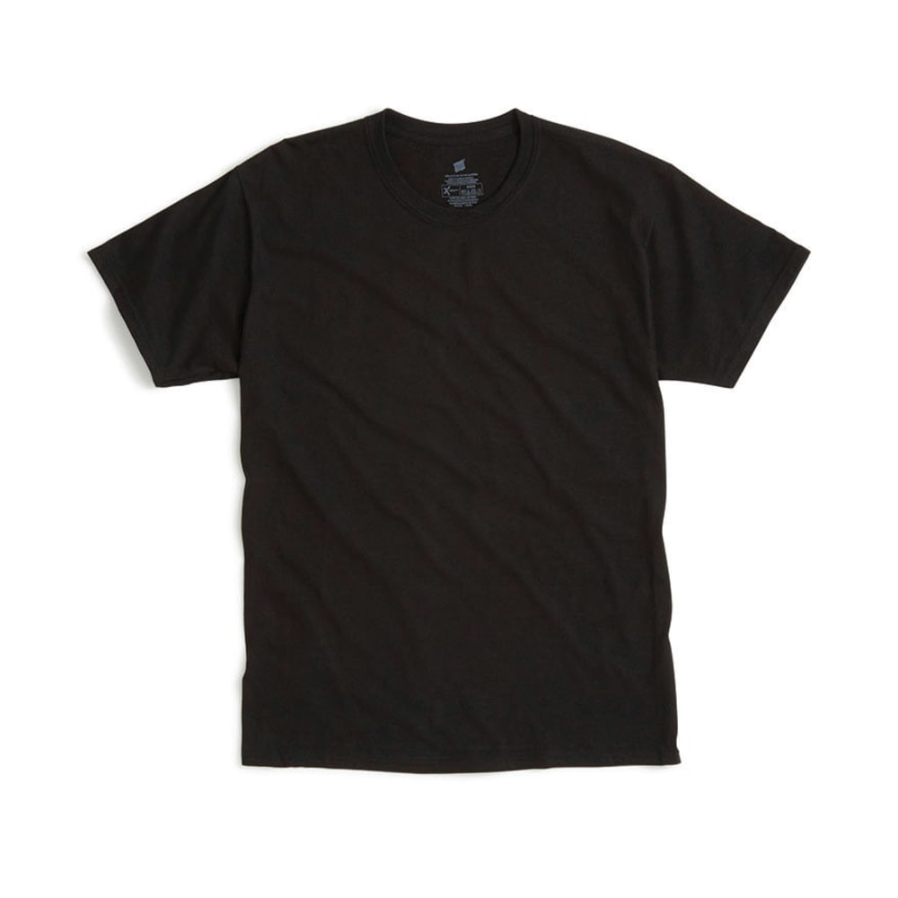 HANES Men's X-Temp Crew Neck Tee  - BLACK
