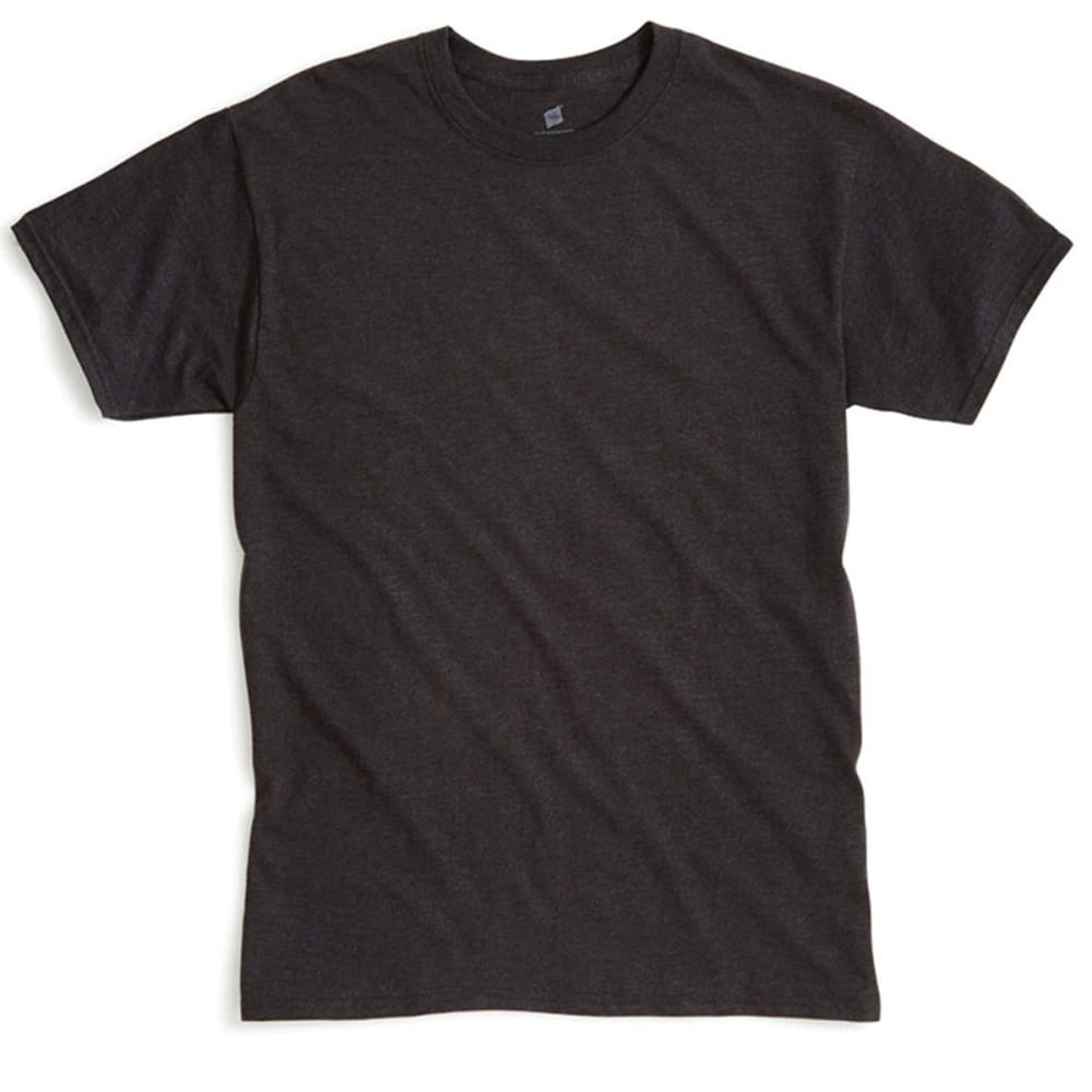 HANES Men's X-Temp Crew Neck Tee  - CHARCOAL