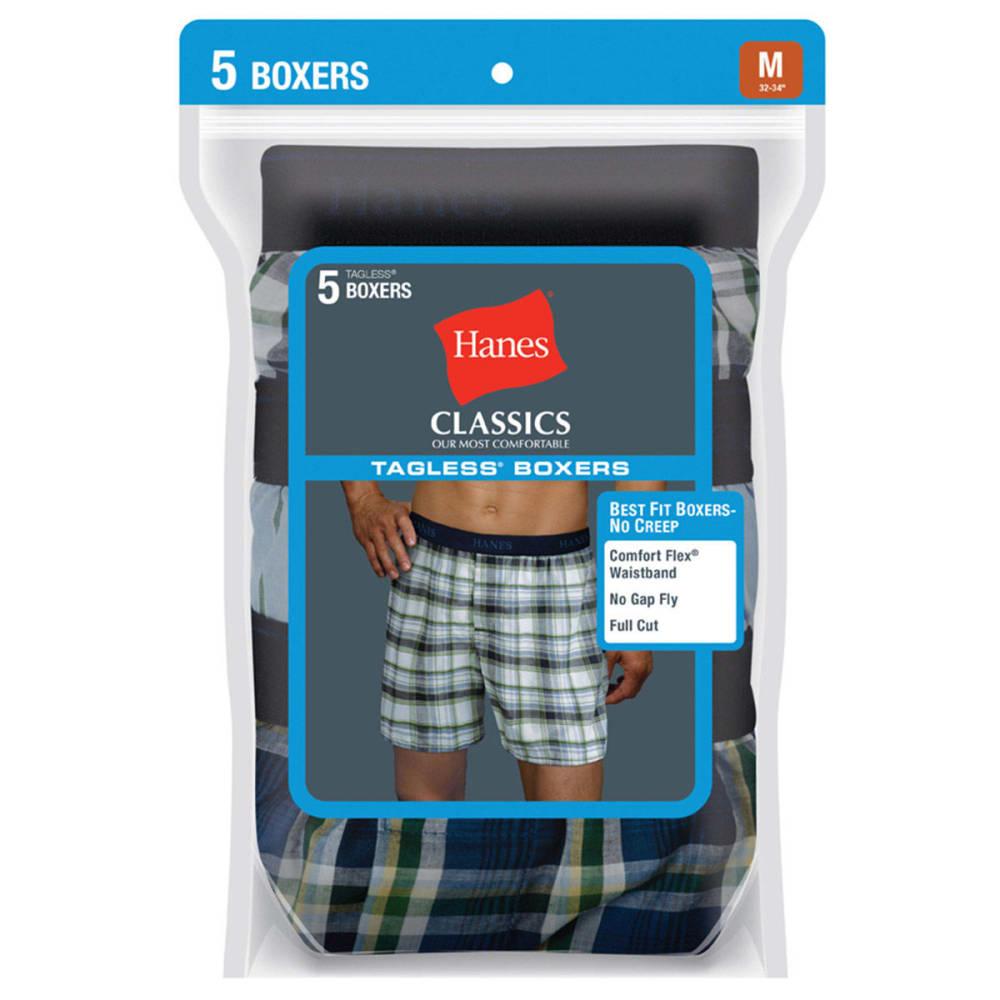 HANES Men's Classics Tagless Boxers, 5-Pack S