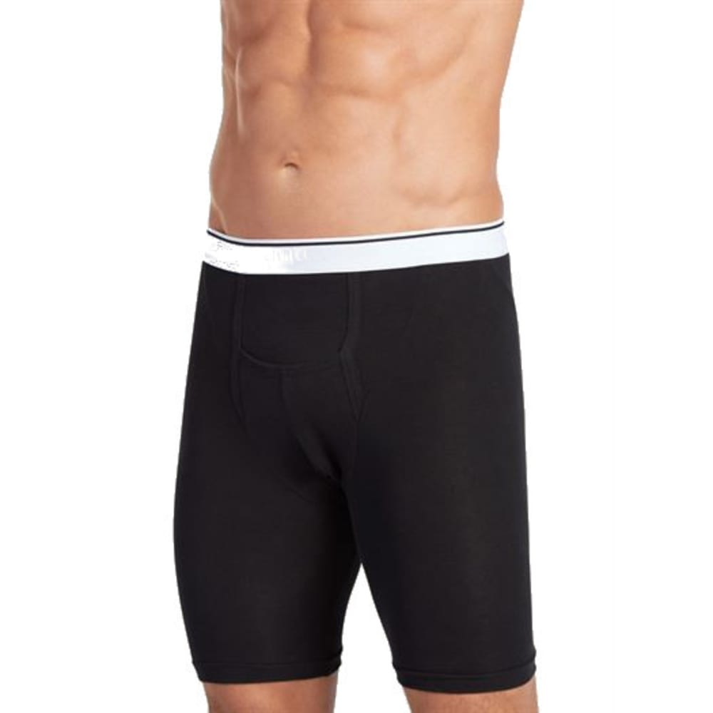 JOCKEY Men's Pouch Midway Brief, 2 Pack - BLACK