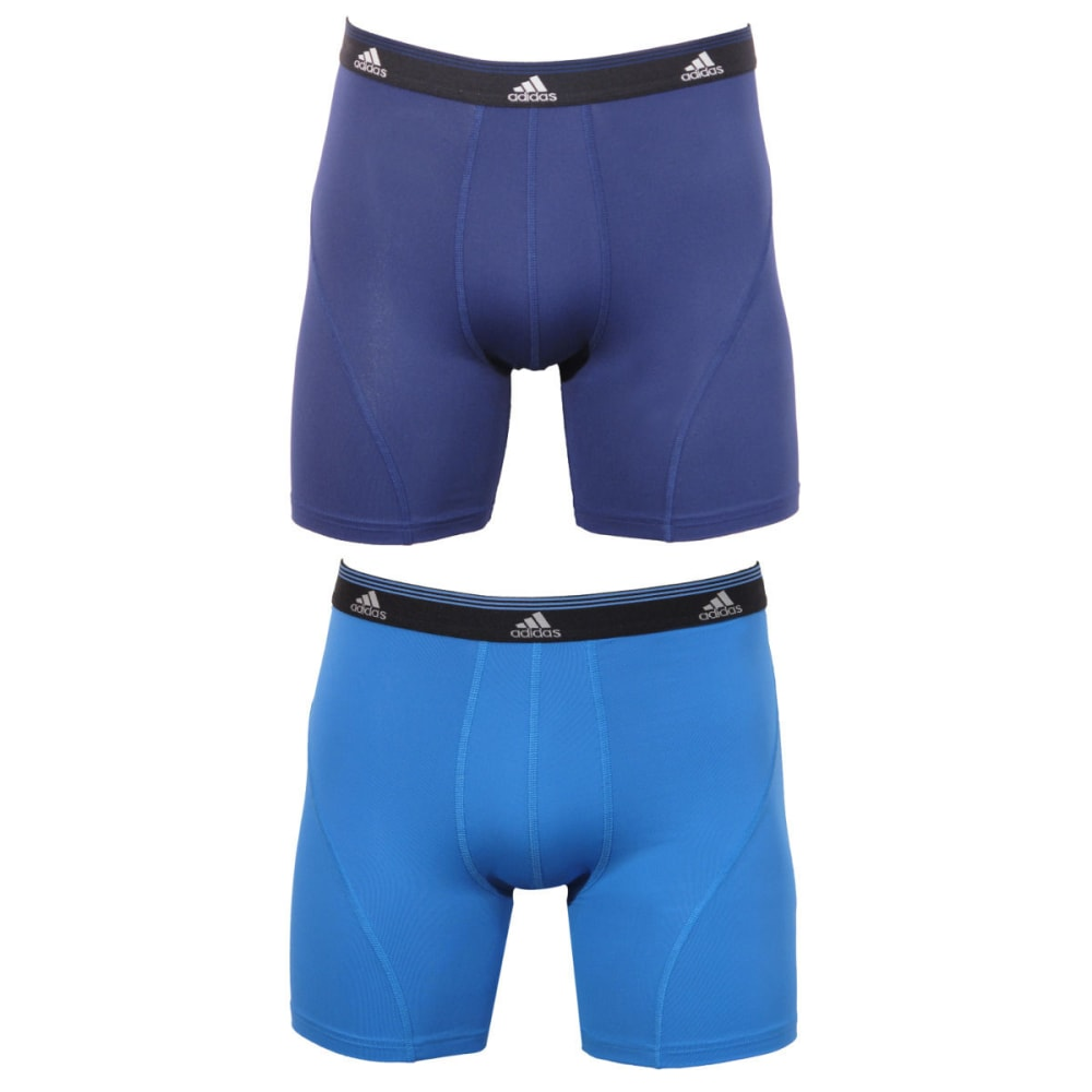 ADIDAS Men's Sport Performance 2-Pack Boxer Briefs - BLUE/BLACK