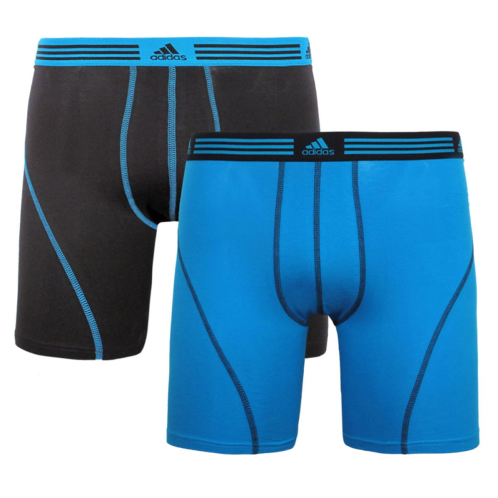 ADIDAS Men's Athletic Stretch Boxer Briefs, 2-Pack - BLUE/BLACK
