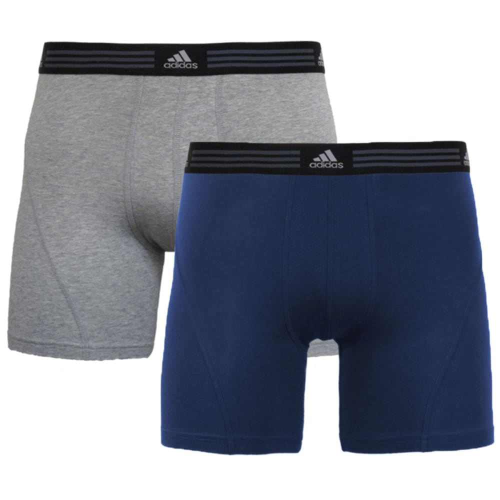 ADIDAS Men's Athletic Stretch Boxer Briefs, 2-Pack - GREY/NAVY