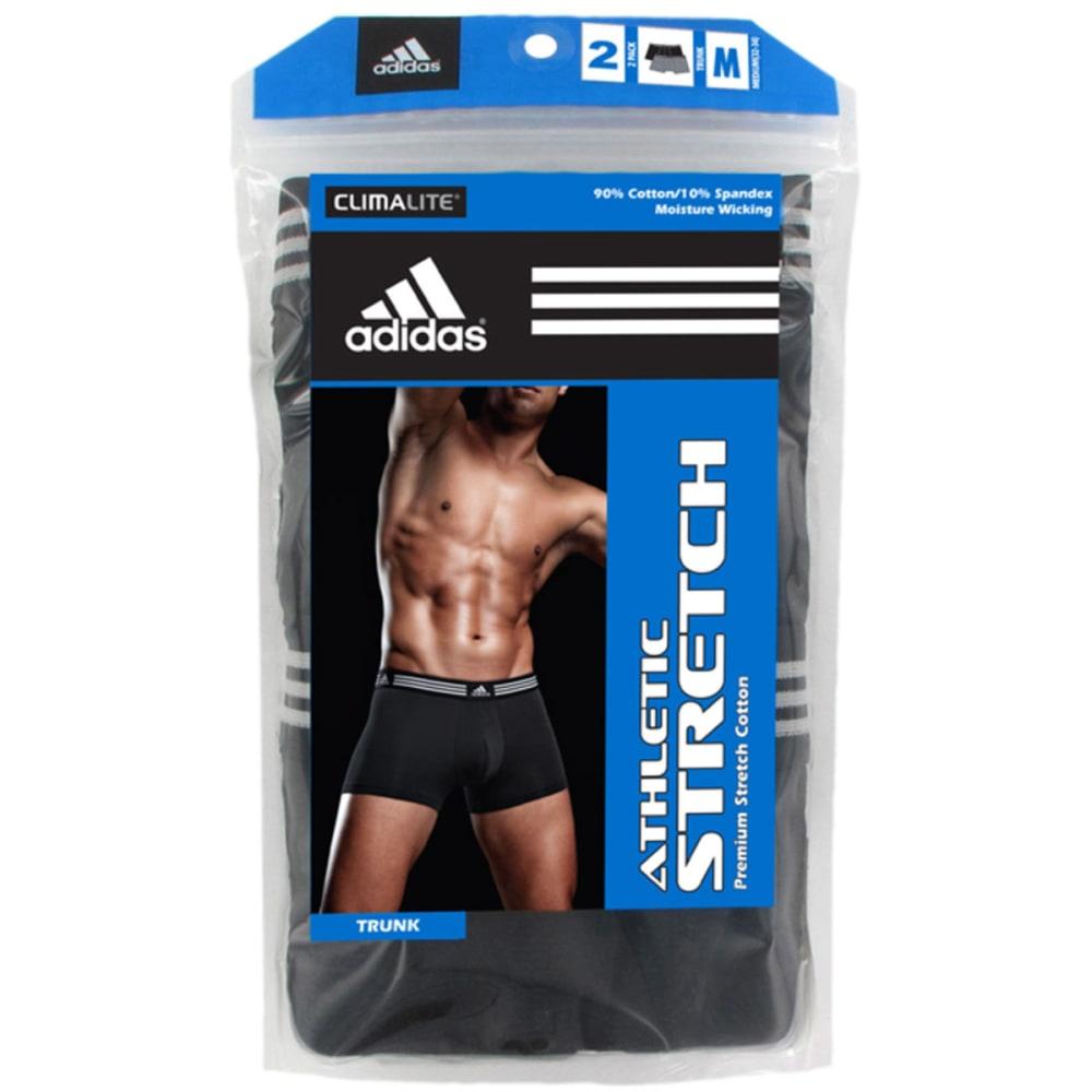 ADIDAS Men's Stretch Trunk Boxer Briefs, 2-Pack - GREY/BLACK