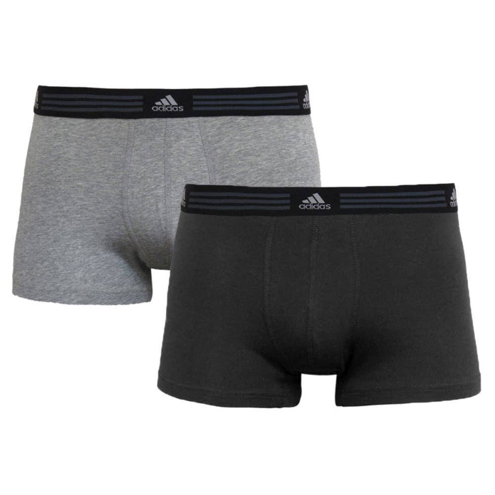 ADIDAS Men's Stretch Trunk Boxer Briefs, 2-Pack - GREY/BLACK