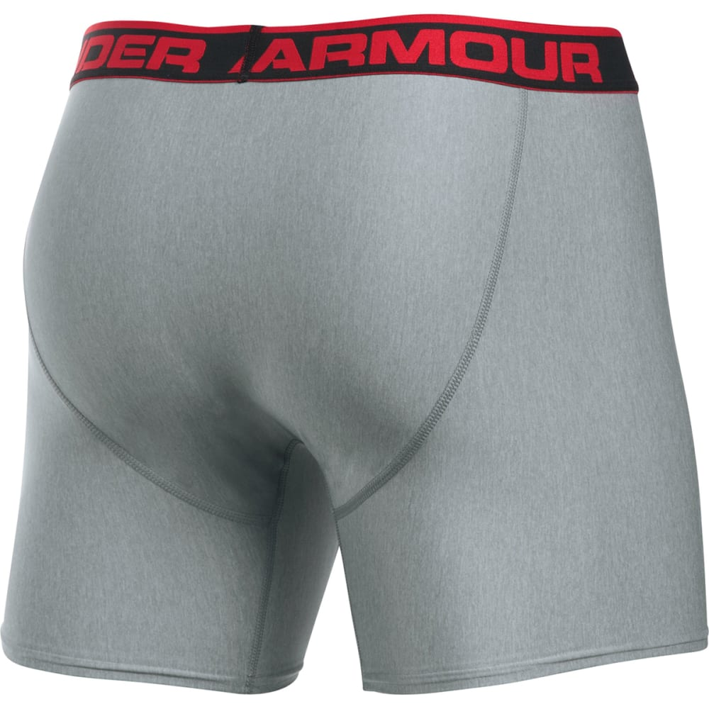 UNDER ARMOUR Men's Original Boxerjocks Boxer Briefs - CARBON HEATHER