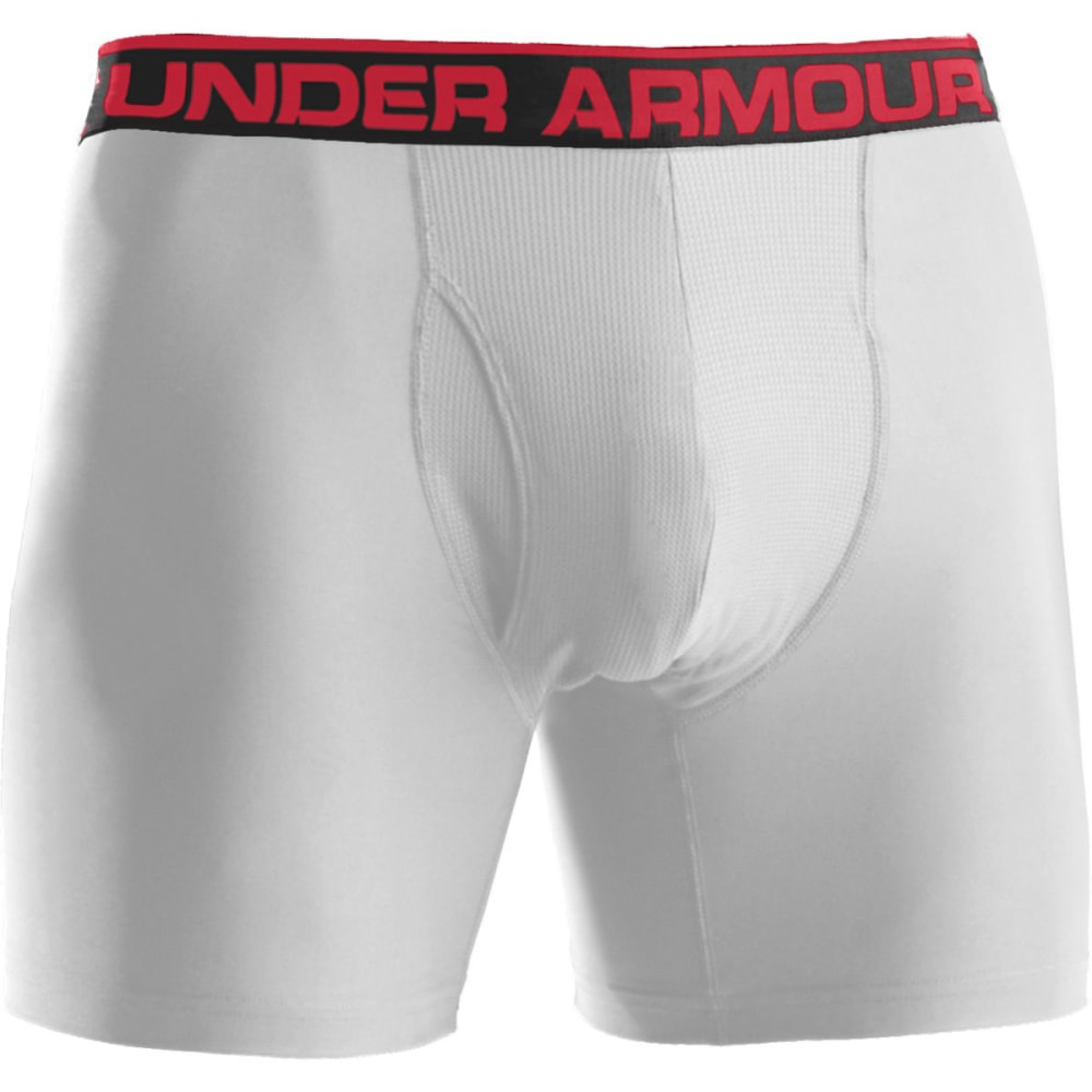UNDER ARMOUR Men's Original Boxerjocks Boxer Briefs - WHITE