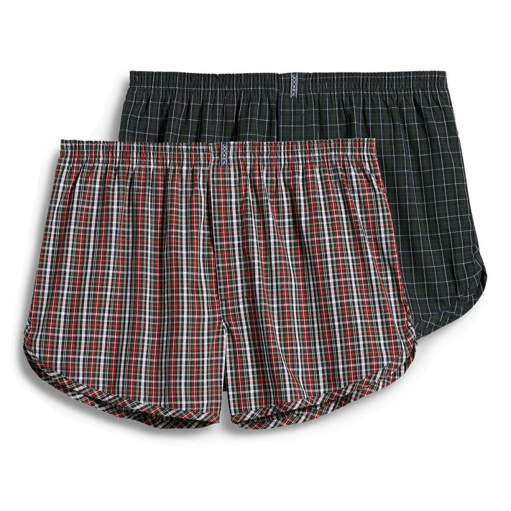 JOCKEY Men's Tapered Woven Boxers, 2 Pack - ASSORTED
