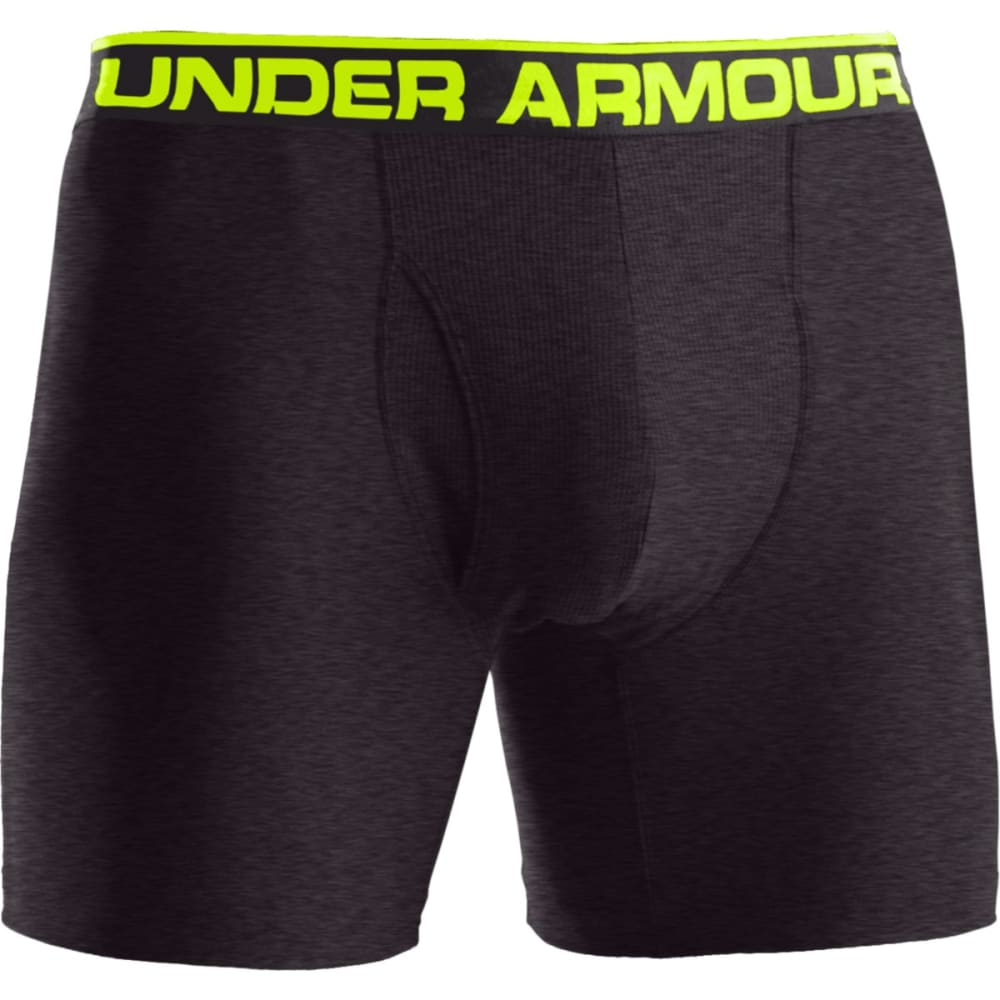 UNDER ARMOUR Men's Original 6-Inch Boxer Briefs - ONYX