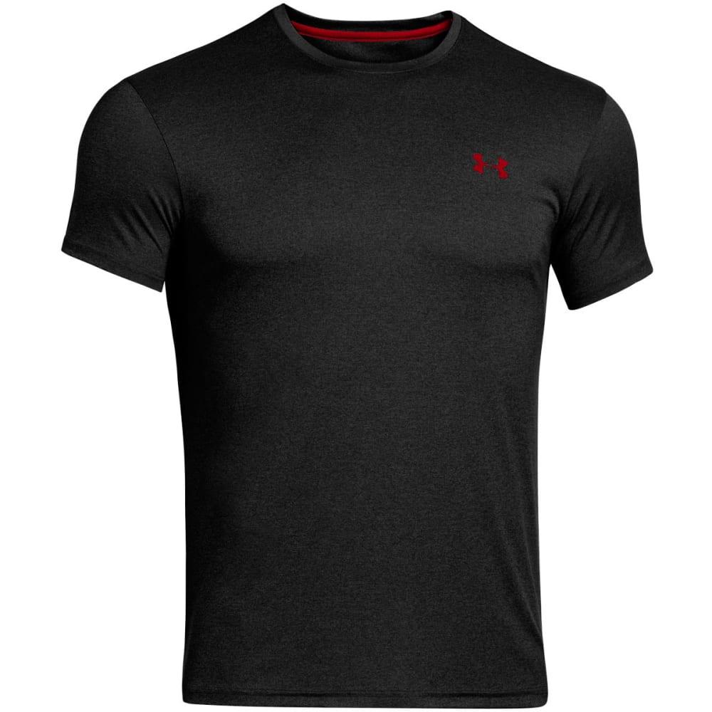 UNDER ARMOUR Men's HeatGear® Flyweight Crew Undershirt - BLACK