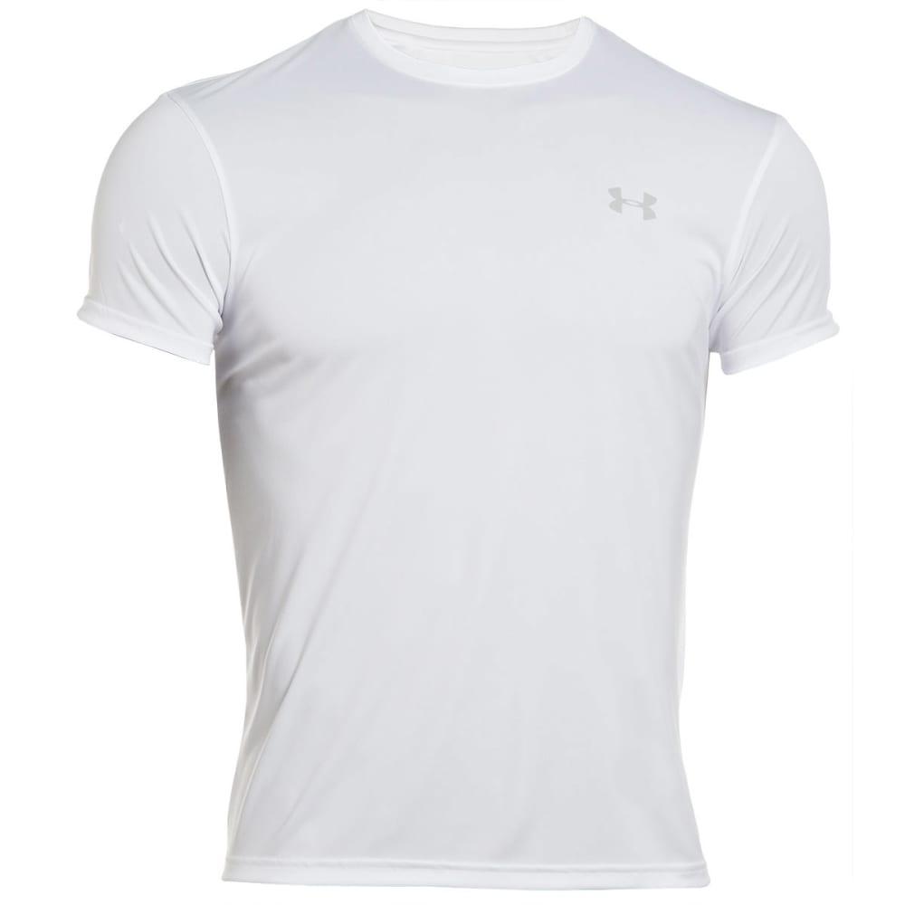 UNDER ARMOUR Men's HeatGear® Flyweight Crew Undershirt - WHITE